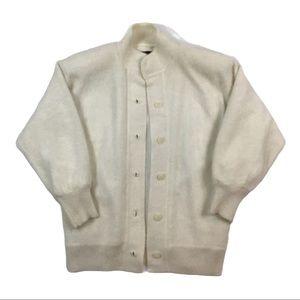 Vintage angora cardigan sweater
